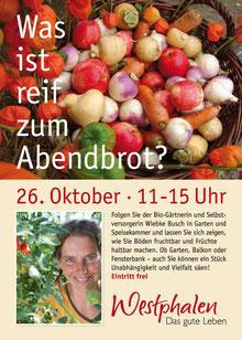 Plakat Schauschnitzen mit der Berufsfachschule Holzbildhauerei bei Buchhandlung Westphalen