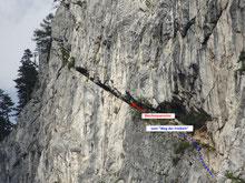 der eigentliche Blechmauernriss (oberer Teil)