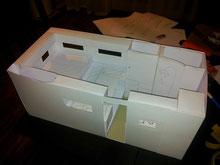 Modell im Maßstab 1:10 aus Karton