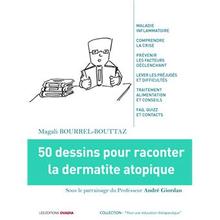Couverture du livre : 50 dessins pour raconter la dermatite atopique