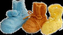 zapatitos para bebé tejidos en dos agujas o palitos