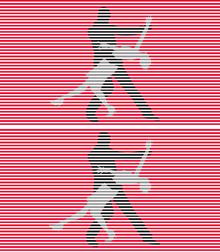 インターレース方式では、偶数線と奇数線をテレコ(交互)に表示。