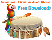 Free shamanic drumming mp3 files at Shaman Drums And More