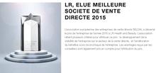 LR, ELUE MEILLEURE SOCIETE DE VENTE DIRECTE 2015 - MLM ou MDR,