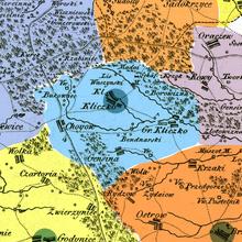 Parafia Kliczków Mały oznaczona na mapie Gilly'ego