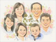 家族 似顔絵2