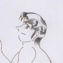 図3 髪のテカリ
