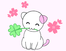 Lucky Cat & Smiles 3 - love -, LINE Sticker