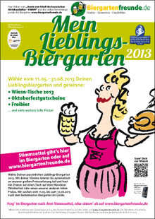 Wähle Deinen Lieblingsbiergarten 2013