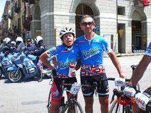 Solange et Bernard après l'arrivée