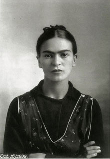 フリーダ・カーロ。ディエゴ・リベラの妻でもある。