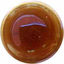 L'intérieur du pot en verre Puri vu du dessus