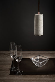 Lampenschirm aus Beton