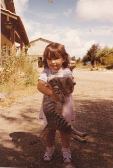 Mes premiers chats à l'âge de deux ans.
