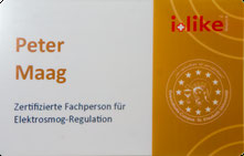 Zertifizierte Fachperson für Elektrosmog-Regulation