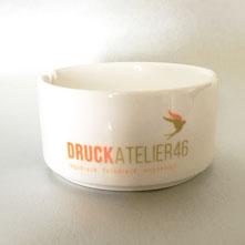 Druckatelier46 Mülchi - Aschenbecher mit Logo, Text oder Foto