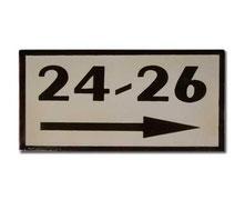 Placa con indicación 17 x 25 cm