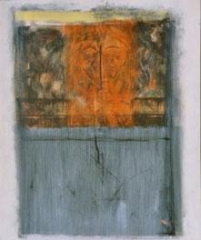 ORANGES GESICHT, Acryl auf Leinwand, 80 x 100 cm, 2004