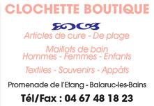 Clochette boutique  Balaruc les bains