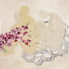 君子爱兰  ORCHID DREAM  160X160CM   布面油画  OIL ON CANVAS    2009