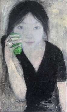 纪录肖像11 DIARY PORTRAIT XI 60X36CM 布面油画 OIL ON CANVAS 2005 (收藏于香港 COLLECTED IN HONG KONG)