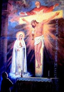 Vision der Seherin Lucia aus Fatima - Bildbeschreibung am Ende dieser Seite