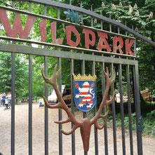 Eingangstor zum Wildpark Hanau