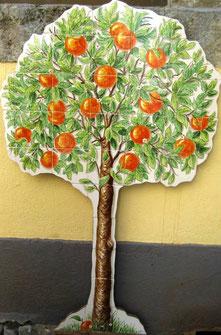 """Art.-Nr.: PN-190  """"Orangenbaum"""", Masse:1,50cm x 90cm"""