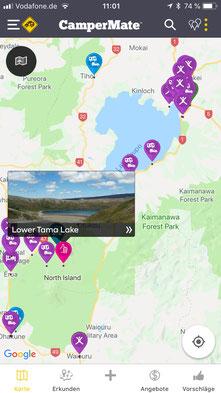 Alle Campinplätze und Ausflugsziele auf einen Blick