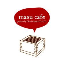 枡生産日本一の岐阜県大垣市にあるmasu cafeのロゴです。