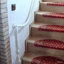 Handlaufseil an Treppe