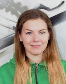 Natali, Kundenservice beim Dreirad-Zentrum in Hamburg