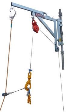 下置きウインチ専用ブラケットアーム 介錯ロープガイドシステム