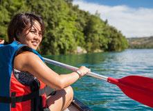 Kayaking zwischen den Inseln