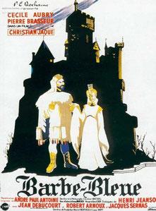 Affiche du film Barbe-Bleue de C Jacques avec Pierre Brasseur et Cécile Aubry
