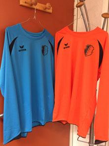 Le bleu ciel pour rappeler les couleurs bleues historiques de l'Eveil Philbertin Football