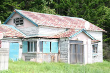 こちらが実際にヒグマが入った家です