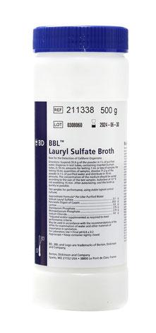 211338 BD BBL™ Caldo Lauril Sulfato, 500 g