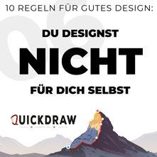 Bild zeigt die Typographie von du designst nicht für dich selbst