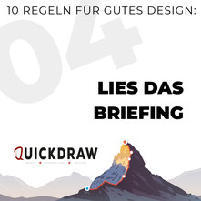 Bild zeigt die Typographie von Lies das Briefing