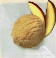 Sorbet mit Mangostückchen