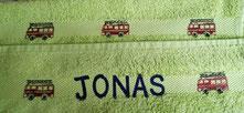 Handtuch bedruckt und personalisiert (Danke Bea!)