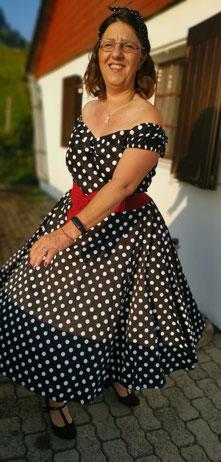 Annakonda Rockabilly & Vintage Store Rockabilly Swing Dress Polkadots Collectif