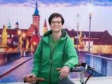 Britta Schaefers aus dem Team des Lastenfahrrad-Zentrums Würzburg