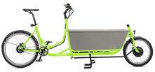Radkutsche Rapid Cargo e-Bike / Lastenvelo mit Aufbaute Familien-Wanne