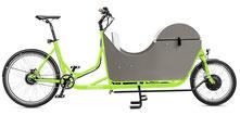 Radkutsche Rapid Cargo e-Bike / Lastenvelo mit Aufbaute Wellenaufsatz
