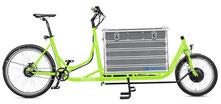 Radkutsche Rapid Cargo e-Bike / Lastenvelo mit Aufbaute Zarges Box
