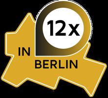 Symbolische Darstellung des Stadtplans Berlins und der 12 Standorte von KRAV MAGA DEPARTMENT