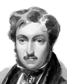 Louis Napoleon; Federzeichnung von Hortense de Beauharnais; um 1834. Bild (wie auch alle andern auf dieser Seite) vom Napoleonmuseum Arenenberg.