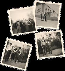 Familienfotos aus den Fünfziger Jahren